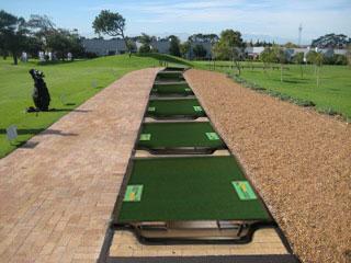 Golf Tee Line with TrueStrike Golf Mats