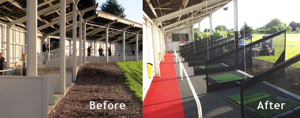 Ghyll Beck Driving Range facility transformation before and after