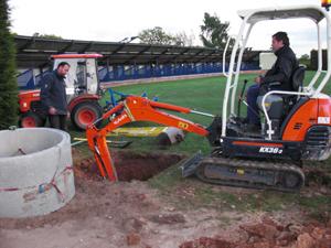 Tonbridge Golf Centre - Ballpicker Ball Return System - Hole Beging Dug
