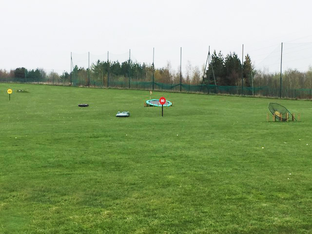 TrueBot Outfield Robots at Waterfront Golf