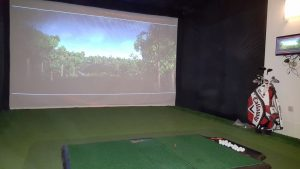 Academy Mat with baal tray used with a Golf Simultor