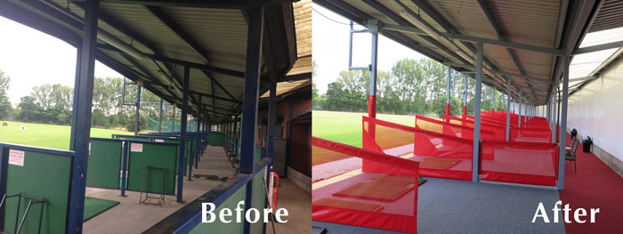 Liverpool Golf Before and After Range Refurbishment Service
