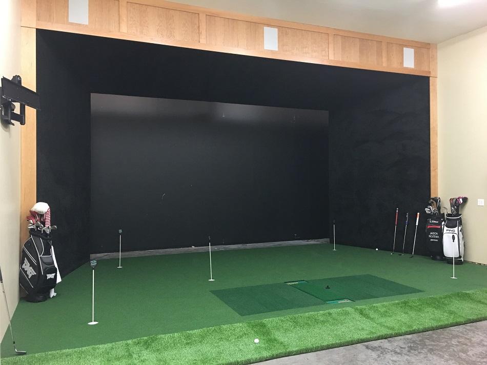 Golf Simulator with TrueStrike hitting mat