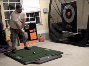 TrueStrike Golf Mat used with Callaway golf net