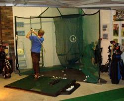 TrueStrike Golf Mat with Rotanet practice golf net