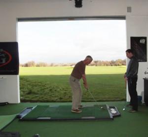 Waterton Park club fitting on TrueStrike golf mat